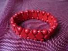 Narukvica poludrago kamenje -Crveni koral