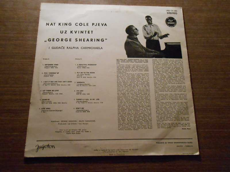 Nat King Cole, George Shearing - Nat King Cole Sings / George Shearing Plays