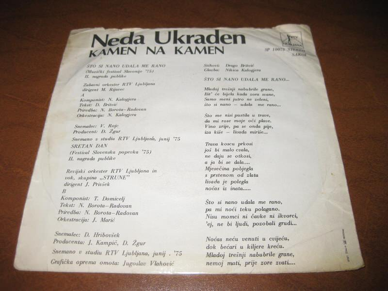 Neda Ukraden - Što Si Nano Udala Me Rano / Sretan Dan