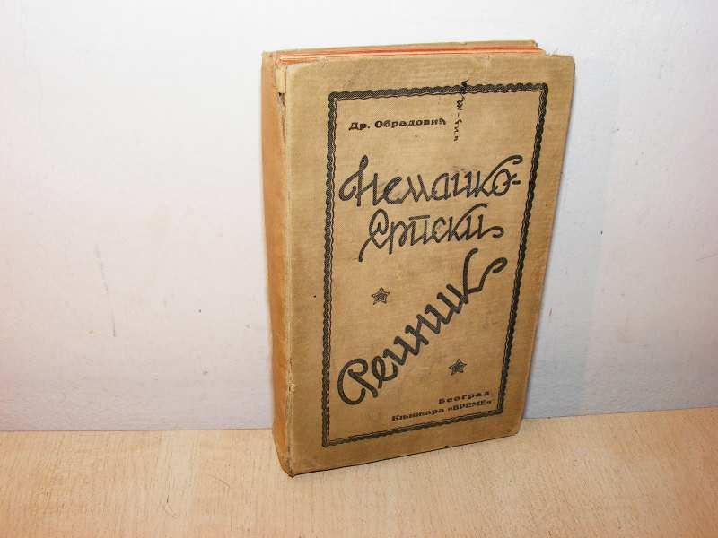 Nemačko-srpski rečnik Obradović 1927(besplatna dostava)