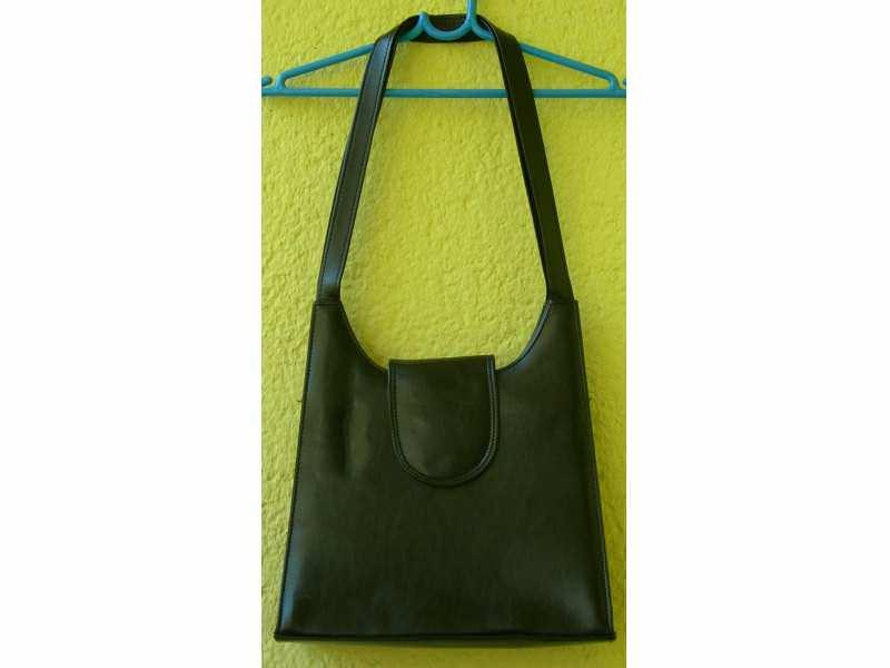 Neobična geometrijska crna torba