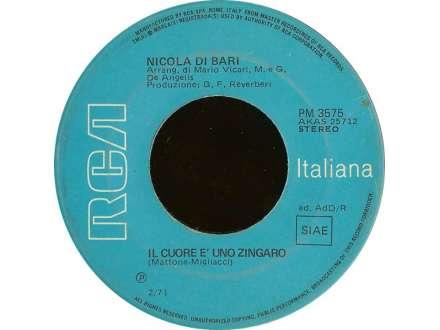 Nicola Di Bari - Il Cuore Ѐ  Uno Zingaro / Agnese