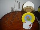 Niklovani držači za tanjire  ili šolje