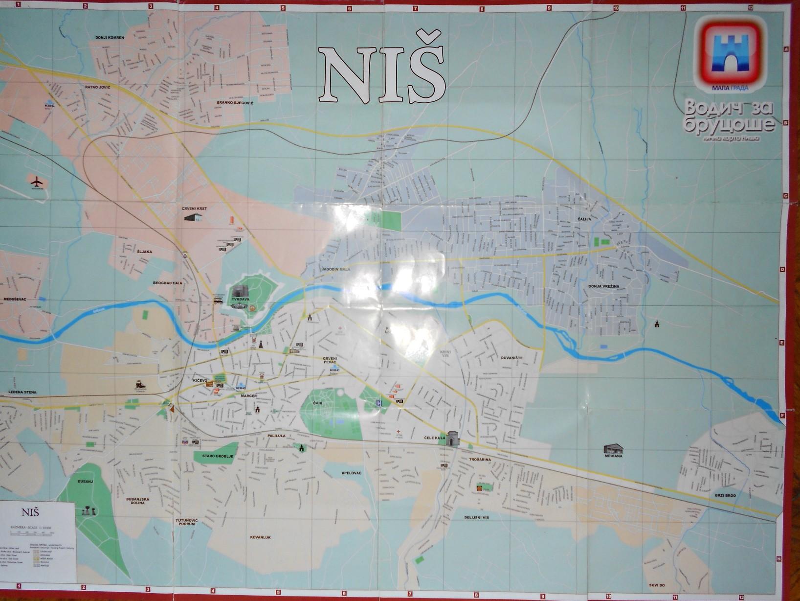 Nis Mapa Grada Vodic Za Brucose Kupindo Com 30652273
