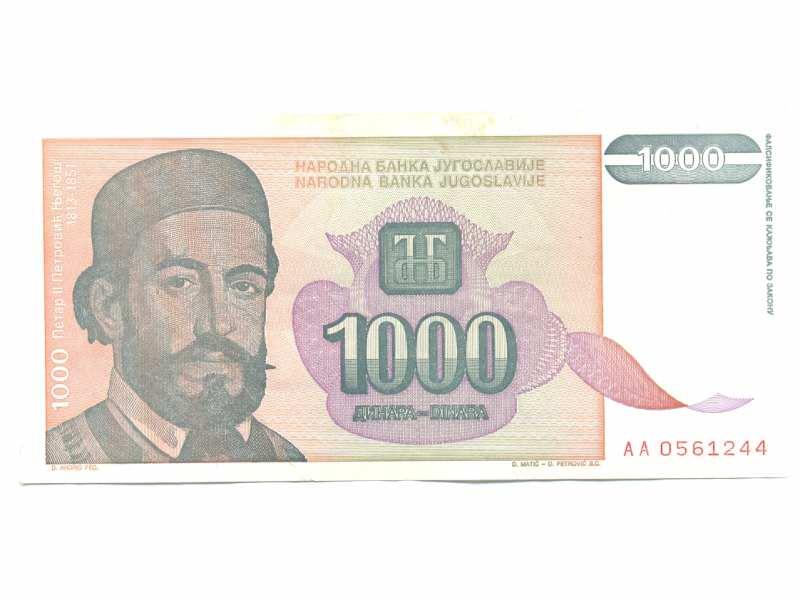 Novčanica 1000