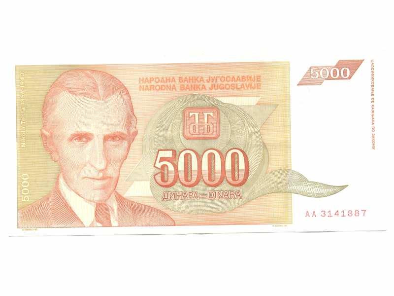 Novčanica 5000