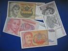 Novčanice Jugoslavija 1993. i 1994. (4 komada)
