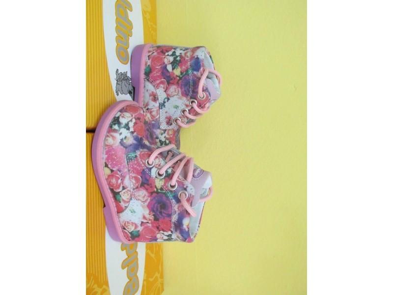 Nove cvetne kozne cipelice Baldino, broj 25