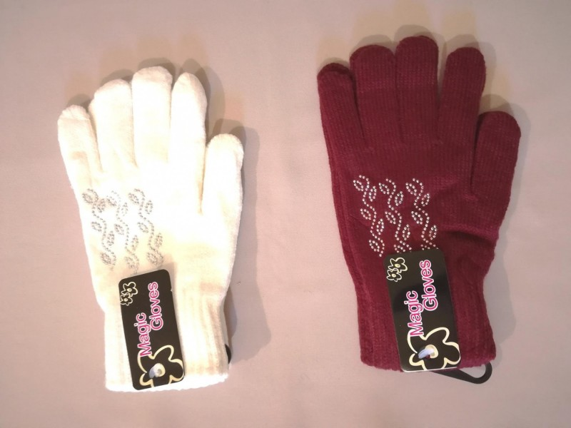 Nove zenske zimske rukavice sa cirkonima Magic Gloves