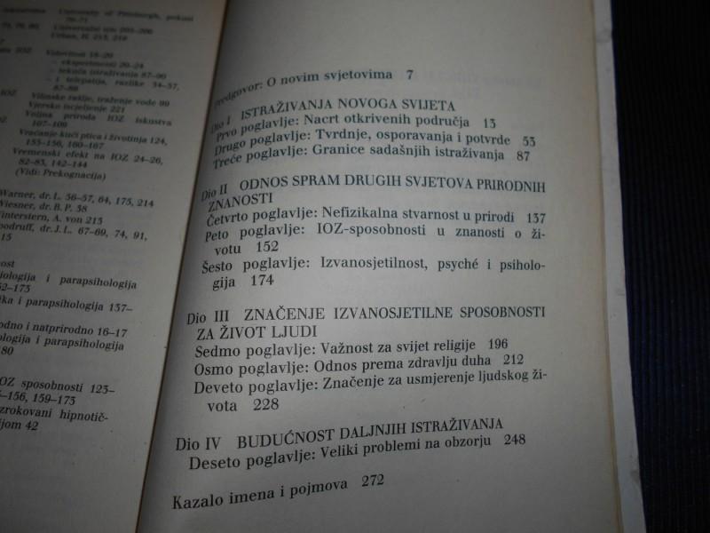 Novi svijet duha,J.B.Rhine,gobus ,prosvjeta  zg
