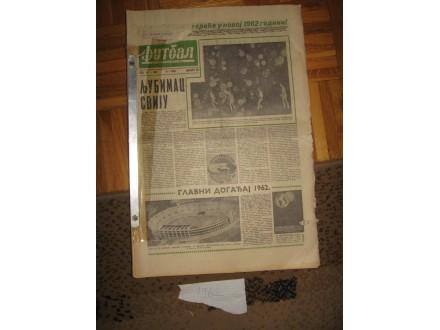 Novine Fudbal 1962 godina