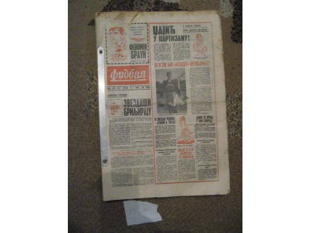 Novine Fudbal 1967 godina