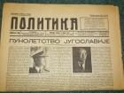 Novine Politika 6 april 1941