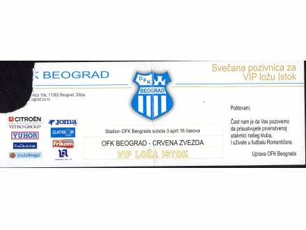 OFK Beograd - Crvena Zvezda   ,   2010.god.