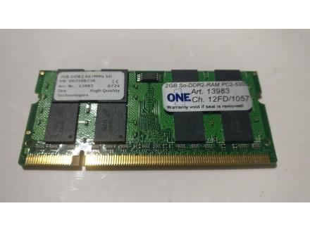 ONE 2Gb ddr2 667Mh laptop memorija