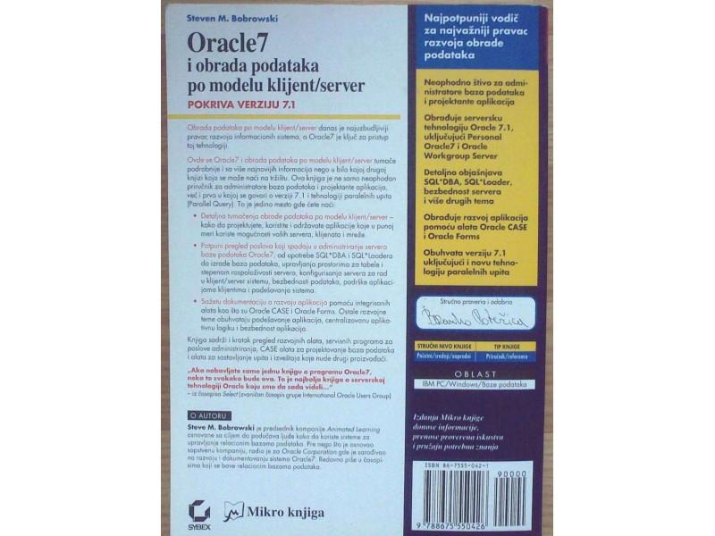 ORACLE 7 i obrada podataka po modelu klijent/server
