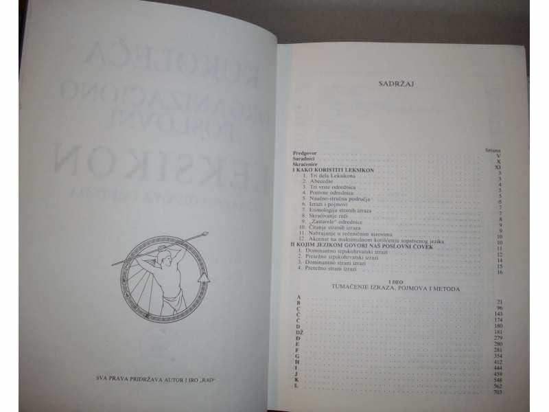 ORGANIZACIONO-POSLOVNI LEKSIKON - Stevan M. Kukoleča