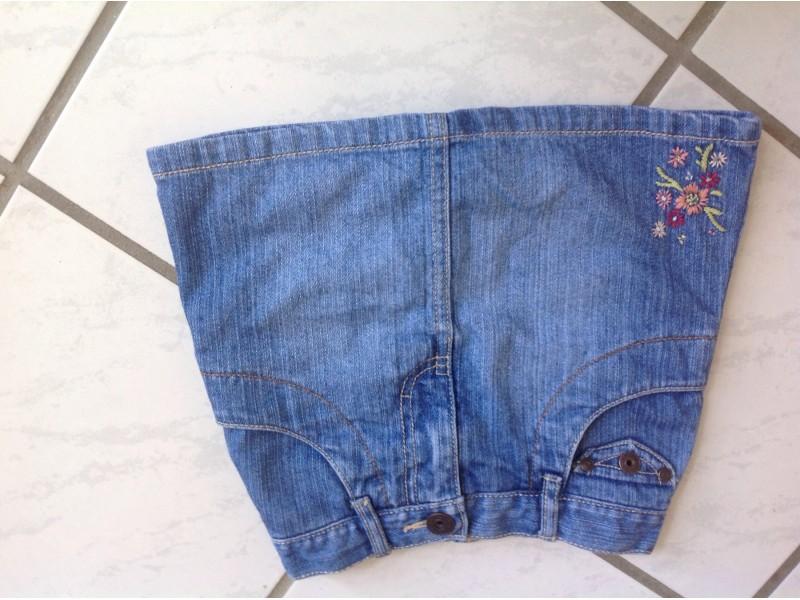 OSH KOSH Teksas suknja sa cvetni vezom NOVO 3G