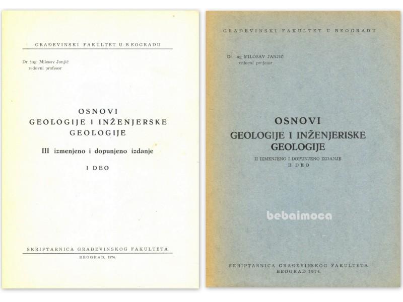 OSNOVI GEOLOGIJE I INŽENJERSKE GEOLOGIJE I, II - Janjić