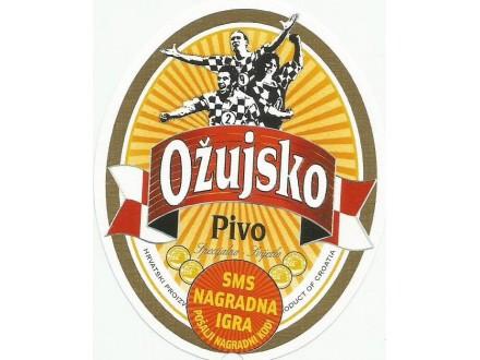 OZUJSKO PIVO  Pivovara Zagreb etiketa