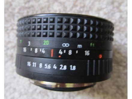 Objektiv Prakticar 1:1,8 f=50mm MC Pentacon