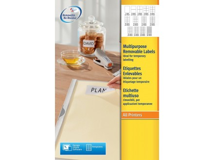 Office self adhesive labels A4 44416