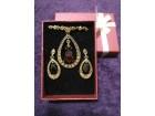 Ogrlica i minđuše sa RUBINCRVENIM Swarovski kristalima