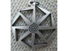 Ogrlice: KOLOVRAT, Kolo Svaroga - srebro/patina