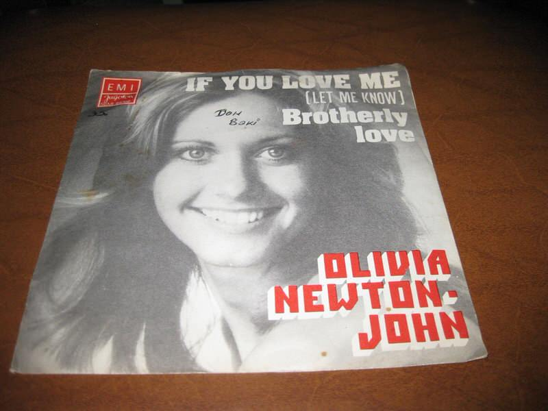 Olivia Newton-John - If You Love Me (Let Me Know) / Brotherly Love
