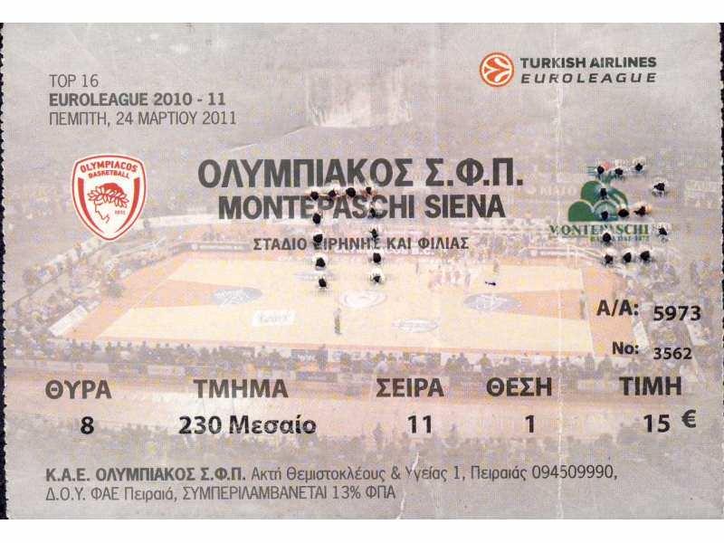Olympiacos - Montepaschi Siena , 2011.god.