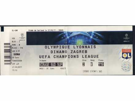 Olympique Lyonnais - Dinamo Zagreb   ,   2011.god.