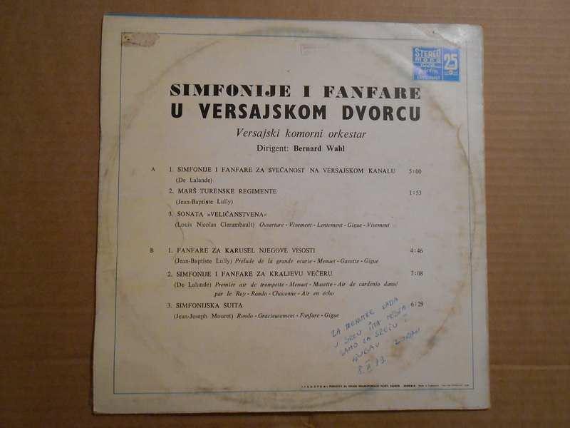 Orchestre De Chambre De Versailles - Symphonies Et Fanfares Au Chateau De Versailles