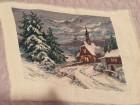 Original Vilerov goblen `Crkvica u snegu`