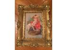 Original Vilerov goblen `Devojcica sa jagnjetom`