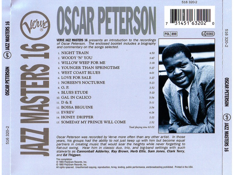 Oscar Peterson - Jazz Masters 16