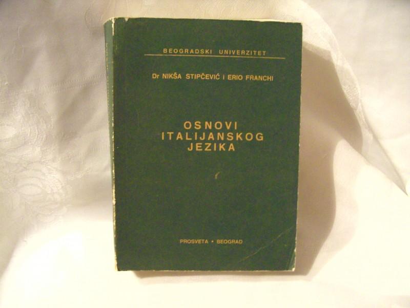 Osnovi italijanskog jezika, Nikša Stipčević