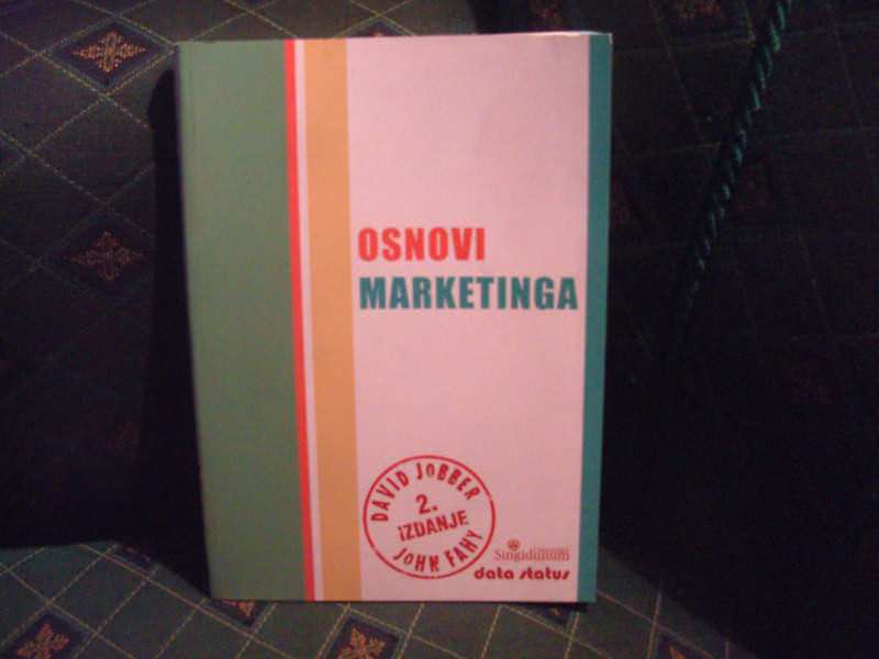 Osnovi marketinga, David Jobber