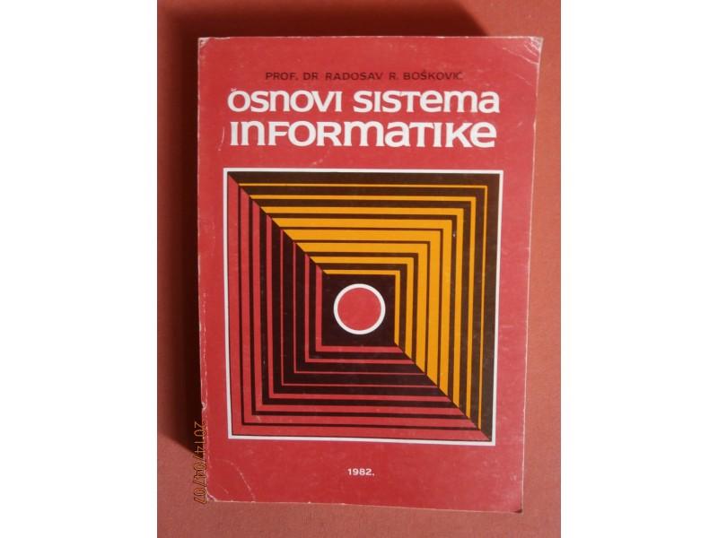 Osnovi sistema informatike, Radosav R Boskovic