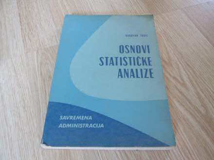 Osnovi statisticke analize Radovan Todic
