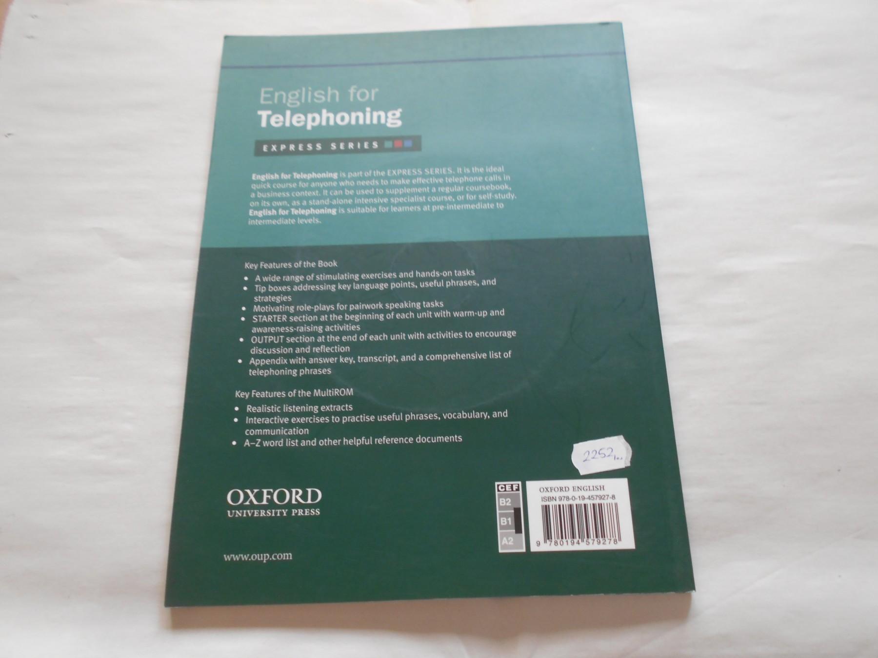 Oxford business english, English for telephoning, B1-B2 - Kupindo