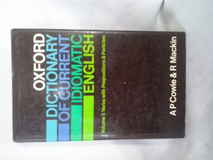 Oxford dictionary of current idiomatic english