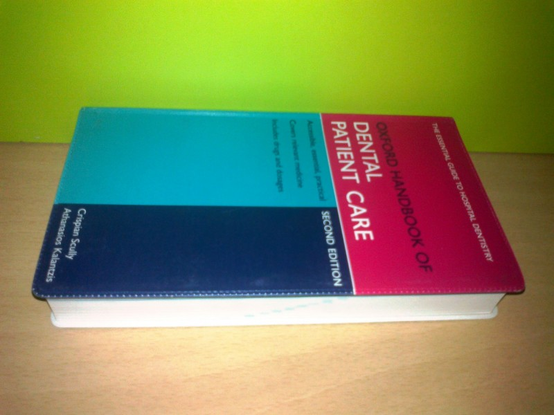 Oxford handbook of DENTAL PATIENT CARE   ,novo!!!