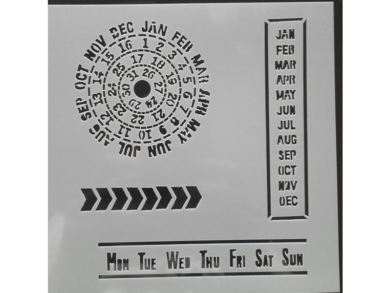 P052--Šablon  kalendar  13x13cm /kom