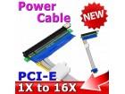 PCI-E riser/ekstender x1-x16, pcie extender molex, kabl