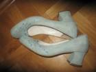 PEPENERO kožne cipele sa četvrtastom štiklom