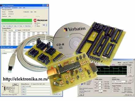 PICKIT 2 CLONE 5V/3V3 - USB PIC PROGRAMER