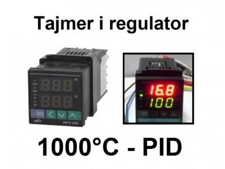 PID Termoregulator 1000°C sa tajmerom - relej - 220V