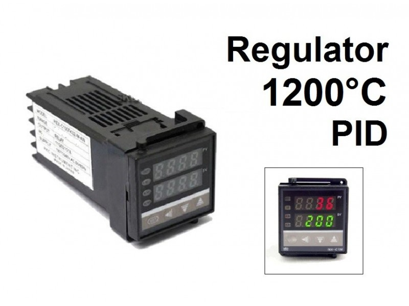 PID Termoregulator 1200°C - relej - 220V - Japan