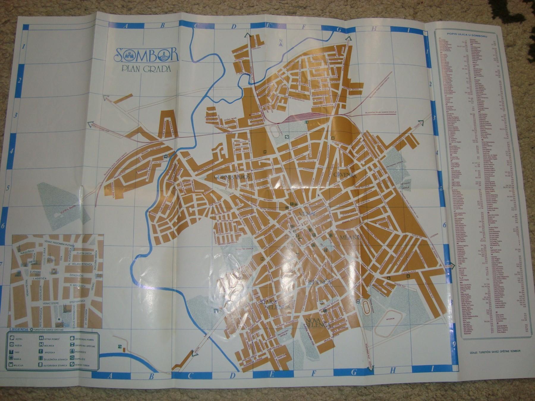 Plan Grad Sombora Karta Sombora Kupindo Com 45886269