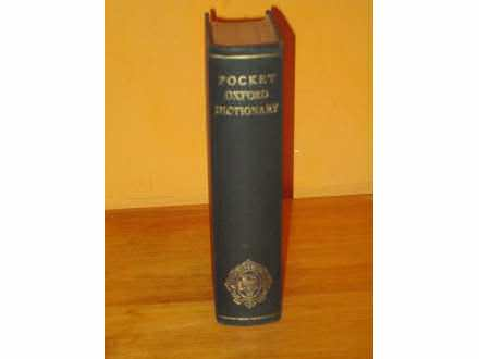 POCKET OXFORD DICTIONARY